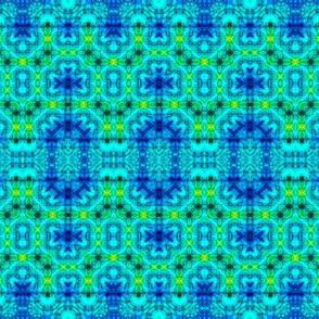 Blue & Green Delicate Mesh