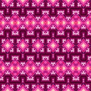 Dynanic Pink Diamond Hex Blocks
