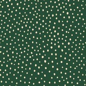 Ditsy Dots - Hunter Green