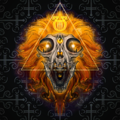 Apollo Sun Leo Lion Moon Snakes Naaga Serpent Reptiles Fire Flames Astrology Galaxy Skulls Horror Macabre Occult Voodoo Witchcraft Wicca Flame Demon Fire Candles