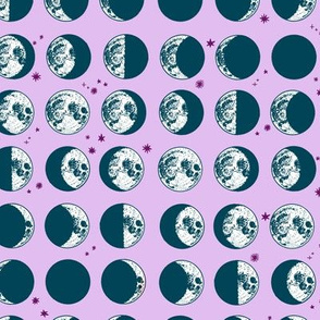 moon phases - lavender