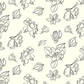 Gardenia Minimalist Pattern in Vanilla