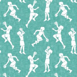women's basketball players - girls basketball - liberty mint - LAD20