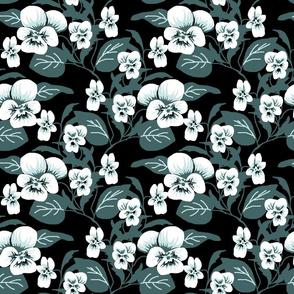 White viola cluster double 2c