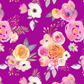 Kiss of Summer Watercolor Floral // Fuchsia