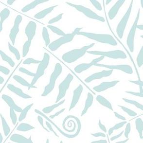 Fern Forest Mint on White