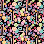 Watercolor Candy Black