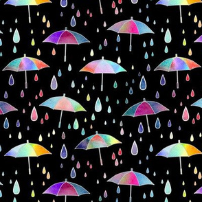 Umbrellas - black - smaller scale