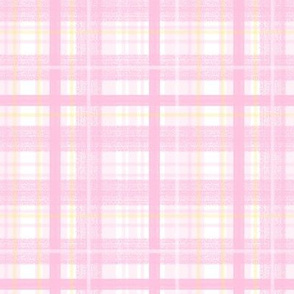 Pink and Yellow Plaid by Angel Gerardo