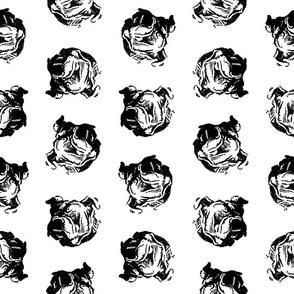 Bulldogs Illustrated Dog Pattern