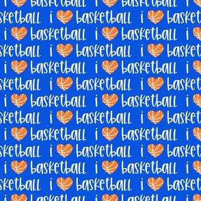 I love basketball - basketball heart - blue - LAD20