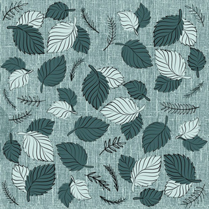 Mint and Pine Leaves