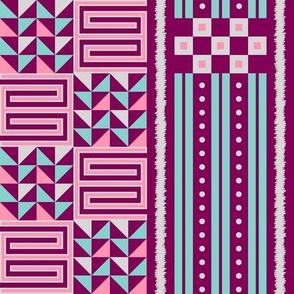 Modern Geometric African Tribal Print