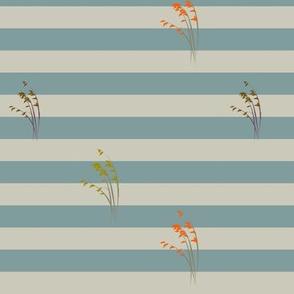 Blue stripes, grass