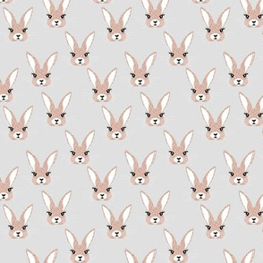 Baby rabbit illustration spring and easter animals hare  bunny design pastel beige neutral nursery SMALL