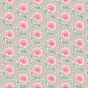 Batik Roses in Pink