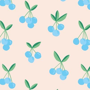 Little Cherry love garden for spring summer nursery design neutral creme blue green