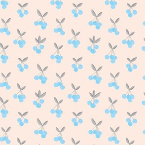 Little Cherry love boho garden for spring summer soft beige creme blue gray nursery design SMALL