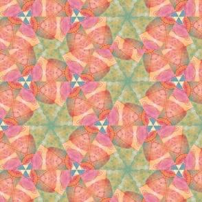 """Sherbet Pinwheel Hex  13.5"""" x  13.5"""""""