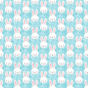 (extra small scale) bunny on light blue - easter & spring bunnies - C19BS