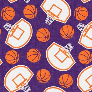 basketball hoops and balls - purple and orange - LAD20
