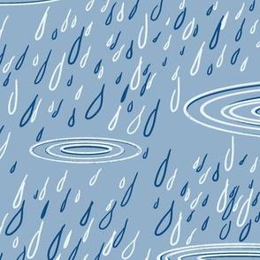 portland rain - classic blue