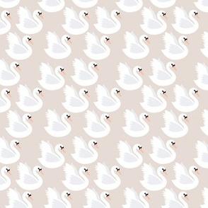 Romantic swan lake nursery swans pond girls pastel soft pastel beige sand SMALL