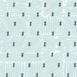 brush stroke stars - mint + pine
