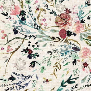 Fable Floral (vintage cream) JUMBO
