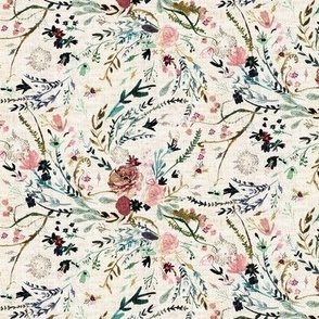 Fable Floral (vintage cream) SML