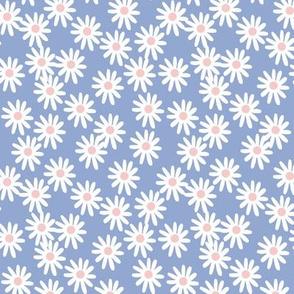 SMALL - Daisies // pantone serenity blue