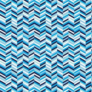 Change of Heart* (Sky) || chevron stripes arrows zigzag herringbone blue