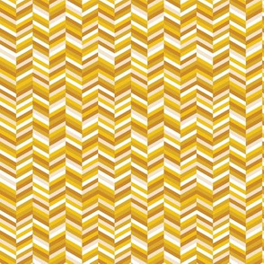 Change of Heart* (Gold Marilyn) || chevron stripes arrows zigzag herringbone mustard yellow