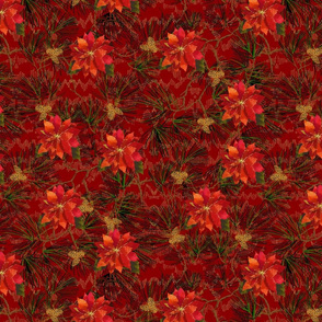 Noel- Painted Poinsettia