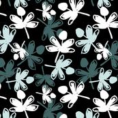 Pine&Mint Flowers Allover Black