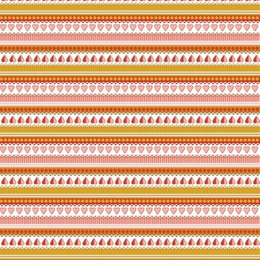 Heart to Heart* (Mona) || hearts stripes doily ribbon rickrack trim valentine valentines day love living coral mustard gold