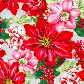 Festive Flourishes- Large Poinsettia
