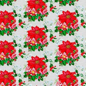 Festive Flourishes- Poinsettia Bouquet