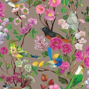 Birds and Blooms Chinoiserie {Doe} 030320