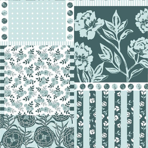 A minty patchwork