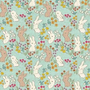 Vintage Bunnies {Spring Sky}