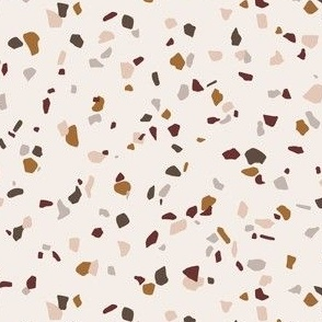 Terrazzo spaced // Copper, blush, burgundy, rich brown and dark taupe