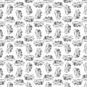 Dinosaur Skulls Pattern (Small Size Print)