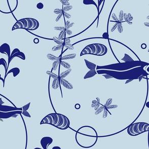 Flora and Fauna of Lake Balaton - Blue