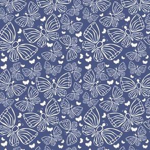 butterflues on blue