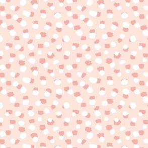 Spots and paint stains little dots and abstract confetti minimal brush dots blush pink white