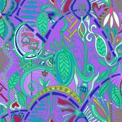 joyful botanical abundance wild colors 3 (violet background)