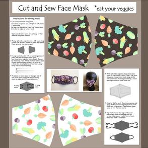 Cut and sew mask pattern veggies