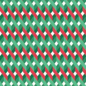 Happy Holidays- Ribbon Lattice