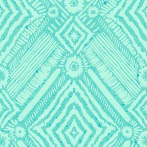 textural diamonds - turquoise